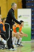 30 March 2010; Republic of Ireland coach Derek O'Neill. International Futsal Friendly, Republic of Ireland v Norway, National Basketball Arena, Tallaght, Dublin. Picture credit: Paul Mohan / SPORTSFILE