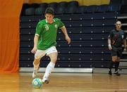 30 March 2010; Jack Doyle, Republic of Ireland, shoots to score his side's first goal. International Futsal Friendly, Republic of Ireland v Norway, National Basketball Arena, Tallaght, Dublin. Picture credit: Paul Mohan / SPORTSFILE