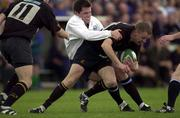 19 May 2001; Mark Connelly, Young Munster is tackled by Conor Mahoney, Cork Constitution. Cork Constitution v Young Munster. AIB League Division One, Semi Final, Temple Hill, Cork. Rugby. Picture credit; Matt Browne / SPORTSFILE *EDI*