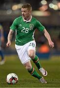 29 March 2016; Jonathan Hayes, Republic of Ireland. 3 International Friendly, Republic of Ireland v Slovakia. Aviva Stadium, Lansdowne Road, Dublin. Picture credit: Brendan Moran / SPORTSFILE