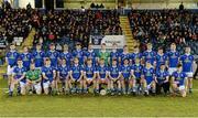 16 March 2016; The Cavan squad. EirGrid Ulster GAA Football U21 Championship, Quarter-Final, Cavan v Tyrone, Kingspan Breffni Park, Cavan. Picture credit: Oliver McVeigh / SPORTSFILE