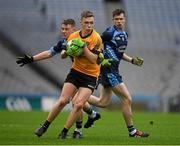 2 April 2016; Sean Miland, Holy Rosary College Moutbellew, in action against Jack Quinn, Gallen CS Ferbane. Masita GAA All Ireland Post Primary Schools Paddy Drummond Cup Final, Gallen CS Ferbane v Holy Rosary College Mountbellew. Croke Park, Dublin. Picture credit: Ray McManus / SPORTSFILE