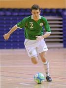 31 March 2010; Ross Zambra, Republic of Ireland. International Futsal Friendly, Republic of Ireland v Norway, National Basketball Arena, Tallaght, Dublin. Picture credit: Matt Browne / SPORTSFILE
