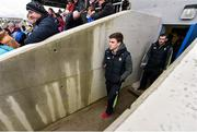 3 April 2016; Clare's Tony Kelly and Patrick Donnellan walk from the dressing room to the pitch before the game. Allianz Hurling League Division 1 Quarter-Final, Clare v Tipperary. Cusack Park, Ennis, Co. Clare. Picture credit: Diarmuid Greene / SPORTSFILE