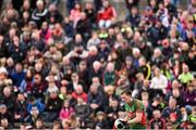 3 April 2016; Cillian O'Connor, Mayo, prepares to take a free. Allianz Football League Division 1 Round 7, Mayo v Down. Elverys MacHale Park, Castlebar, Co. Mayo. Picture credit: David Maher / SPORTSFILE