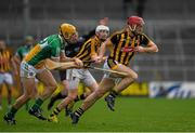 3 April 2016; Colin Fennelly, Kilkenny, in action against Paddy Murphy, Offaly. Allianz Hurling League Division 1, Quarter-Final, Kilkenny v Offaly. Nowlan Park, Kilkenny. Picture credit: Ray McManus / SPORTSFILE