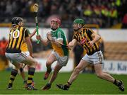 3 April 2016; Conor Doughan, Offaly,  in action against Kieran Joyce, left, and Michael Malone, Kilkenny. Allianz Hurling League Division 1, Quarter-Final, Kilkenny v Offaly. Nowlan Park, Kilkenny. Picture credit: Ray McManus / SPORTSFILE