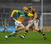 3 April 2016; Cillian Kiely, Offaly, in action against Walter Walsh, Kilkenny. Allianz Hurling League Division 1 Quarter-Final, Kilkenny v Offaly. Nowlan Park, Kilkenny. Picture credit: Ray McManus / SPORTSFILE