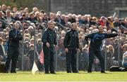 3 April 2016; The Tipperary management team of selector Conor Stakelum, manager Michael Ryan, selector John Madden and selector Declan Fanning during the game. Allianz Hurling League Division 1 Quarter-Final, Clare v Tipperary. Cusack Park, Ennis, Co. Clare. Picture credit: Diarmuid Greene / SPORTSFILE