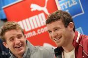 776b4518840 7 April 2010; Puma Ireland rugby stars Luke Fitzgerald and Gordon D'Arcy,