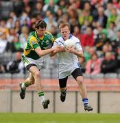 10 April 2010; Chris Clarke, St Colman's, in action against Padraig Lucey, St Brendan's College. All-Ireland Colleges A Football Final, St Brendan's College, Killarney v St Colman's, Newry. Croke Park, Dublin. Picture credit: Ray McManus / SPORTSFILE