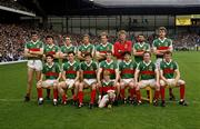 8 September 1985; The Mayo team. All-Ireland Senior Football Championship Semi Final Replay, Dublin v Mayo, Croke Park, Dublin. Picture credit: Connolly Collection / SPORTSFILE