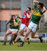 7 April 2016; Michéal Burns, Kerry, reacts after missing a goal-scoring opportunity. EirGrid Munster GAA Football U21 Championship Final, Kerry v Cork. Austin Stack Park, Tralee, Co Kerry. Picture credit: Diarmuid Greene / SPORTSFILE