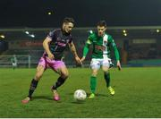 8 April 2016; Eric Molloy, Wexford Youths, in action against John Dunleavy, Cork City. SSE Airtricity League Premier Division, Cork City v Wexford Youths. Turners Cross, Cork. Picture credit: Eóin Noonan / SPORTSFILE