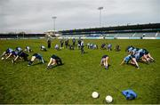 10 April 2016; The Dublin squad warm up before the game. Lidl Ladies Football National League, Division 1, Dublin v Galway, Parnell Park, Dublin. Picture credit: Sam Barnes / SPORTSFILE