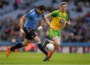 10 April 2016; Bernard Brogan, Dublin, in action against Christy Toye, Donegal. Allianz Football League, Division 1, Semi-Final, Dublin v Donegal, Croke Park, Dublin. Picture credit: Ray McManus / SPORTSFILE