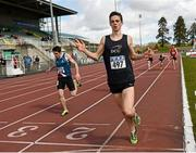 16 April 2016; Conor Duncan, DCU, winning the Mens 800M event. Irish Universities Athletic Association Track & Field Championships 2016, Day 1. Morton Stadium, Santry, Co. Dublin. Picture credit: Oliver McVeigh / SPORTSFILE