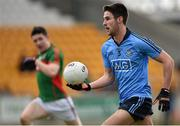 16 April 2016; Shane Clayton, Dublin. Eirgrid GAA Football Under 21 All-Ireland Championship semi-final, Dublin v Mayo. O'Connor Park, Tullamore, Co. Offaly.  Picture credit: Brendan Moran / SPORTSFILE