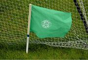 16 April 2016; The green goal flag. Electric Ireland Leinster GAA Football Minor Championship First Round, Dublin v Offaly. Parnell Park, Dublin.  Picture credit: Cody Glenn / SPORTSFILE