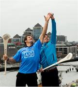 19 April 2016; All Black legend and AIG ambassador Richie McCaw and Dublin hurler Paul Schutte were in Dublin to help promote AIG Insurance's Telematics car insurance. The product, aimed at 21-34 year olds, is designed to encourage and reward safe driving in Ireland by offering up to a 30% discount to those who display high standards of driving. For more information log on to www.aig.ie or call 1890 27 27 27. AIG, International Financial Services Centre, Dublin. Picture credit: Stephen McCarthy / SPORTSFILE