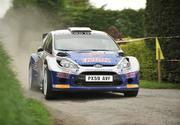 2 May 2010; Craig Breen and Gareth Roberts, in their Ford Fiesta S2000, during the SS10 Currow Ross stage of the Rally of the Lakes - Second Leg. Killarney, Co. Kerry. Picture credit: Barry Cregg / SPORTSFILE