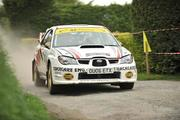 2 May 2010; Colm Murphy and Don Montgomery, in their Subaru Impeza N12, during the SS10 Currow Ross stage of the Rally of the Lakes - Second Leg. Killarney, Co. Kerry. Picture credit: Barry Cregg / SPORTSFILE