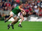 3 June 2001; Ger Heavin, Westmeath in action against Paul Shankey, Meath. Meath v Westmeath, Leinster Senior Football Championship, Croke Park, Dublin. Picture credit; David Maher / SPORTSFILE