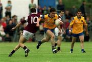 3 June 2001; Conor Connelly of Roscommon is tackled by Joe Bergin of Galway during the Bank of Ireland Connacht Senior Football Championship Semi-Final match between Galway and Roscommon at Tuam Stadium in Tuam, Galway. Photo by Damien Eagers/Sportsfile