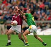 3 June 2001; Westmeath's Ger Heavin is tackled by Paul Shankey, Meath. Westmeath v Meath, Leinster Senior Football Championship, Croke Park, Dublin. Picture credit; David Maher / SPORTSFILE