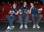 20 April 2016; Leinster's Garry Ringrose, left, Jack McGrath, centre, and Mike McCarthy at The Jungle Book at Movies@Dundrum as Leinster Rugby hosted A Night at the Movies in aid of The Alzheimer Society of Ireland. The event was held in support of one of the Leinster Rugby charity partners, The Alzheimer Society of Ireland, and the private ticket only event was used to raise funds for the charity. The Alzheimer Society of Ireland is the leading dementia specific service provider in Ireland and works across the country in the heart of local communities providing dementia specific services and supports and advocating for the rights and needs of all people living with dementia and their carers. It is a national non-profit organisation and also operates the Alzheimer National Helpline offering information and support to anyone affected by dementia. Check out www.alzheimer.ie<http://www.alzheimer.ie> for more information. Dundrum Cinema, Dundrum, Dublin. Picture credit: Seb Daly / SPORTSFILE