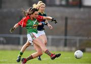 23 April 2016; Niamh Kelly, Mayo, scores her side's first goal of the game. Lidl Ladies Football National League, Division 1, semi-final, Mayo v Kerry. St Brendan's Park, Birr, Co. Offaly. Picture credit: Ramsey Cardy / SPORTSFILE
