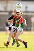 23 April 2016; Grace Kelly, Mayo, in action against Bernie Breen, Kerry. Lidl Ladies Football National League, Division 1, semi-final, Mayo v Kerry. St Brendan's Park, Birr, Co. Offaly. Picture credit: Ramsey Cardy / SPORTSFILE