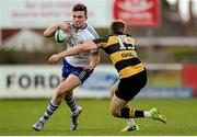 23 April 2016; Aaron Spring, Cork Constitution, is tackled by Craig O'Hanlon, Young Munster. Ulster Bank League, Division 1A, semi-final, Cork Constitution v Young Munster. Temple Hill, Cork. Picture credit: Eóin Noonan / SPORTSFILE