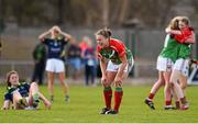 23 April 2016; Mayo's Claire Egan celebrates her side's victory. Lidl Ladies Football National League, Division 1, semi-final, Mayo v Kerry. St Brendan's Park, Birr, Co. Offaly. Picture credit: Ramsey Cardy / SPORTSFILE