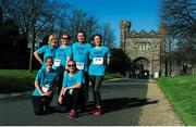 24 April 2016; From left, Nuala Curley, Celina Laney, Thomas Delaney, Emer O'Neill, Niamh Clarke and Joanne Monks all from Waterstown Warriers, Palmerstown, Dublin, after completing the Dublin Remembers 1916 5K run. Royal Hospital Kilmainham, Dublin. Picture credit: Tomás Greally / SPORTSFILE