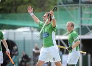 9 May 2010; Stephen Butler, Glenanne, celebrates after scoring his side's second goal. Irish Senior Men's Cup Final, Monkstown v Glenanne, National Hockey Stadium, UCD, Belfield, Dublin. Picture credit: Brian Lawless / SPORTSFILE