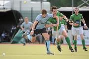 9 May 2010; Runar O'Moore, Monkstown, in action against Gary Shaw, Glenanne. Irish Senior Men's Cup Final, Monkstown v Glenanne, National Hockey Stadium, UCD, Belfield, Dublin. Picture credit: Brian Lawless / SPORTSFILE