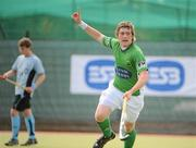 9 May 2010; Shane O'Donughue, Glenanne, celebrates after scoring his side's first goal. Irish Senior Men's Cup Final, Monkstown v Glenanne, National Hockey Stadium, UCD, Belfield, Dublin. Picture credit: Brian Lawless / SPORTSFILE