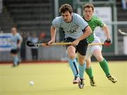 9 May 2010; Cian Speers, Monkstown, in action against Mick McGuinness, Glenanne. Irish Senior Men's Cup Final, Monkstown v Glenanne, National Hockey Stadium, UCD, Belfield, Dublin. Picture credit: Brian Lawless / SPORTSFILE