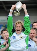 9 May 2010; Glenanne captain Joe Brennan lifts the cup. Irish Senior Men's Cup Final, Monkstown v Glenanne, National Hockey Stadium, UCD, Belfield, Dublin. Picture credit: Brian Lawless / SPORTSFILE