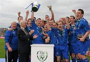 9 May 2010; Crumlin United FC celebrate with the cup. FAI Umbro Intermediate Cup Final, Crumlin United FC v Avondale United FC, Dalymount Park, Dublin. Picture credit: Paul Mohan / SPORTSFILE