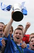 9 May 2010; Crumlin United FC captain Derek Griffin celebrates with the cup. FAI Umbro Intermediate Cup Final, Crumlin United FC v Avondale United FC, Dalymount Park, Dublin. Picture credit: Paul Mohan / SPORTSFILE