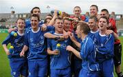 9 May 2010; Crumlin United FC players celebrate after the game. FAI Umbro Intermediate Cup Final, Crumlin United FC v Avondale United FC, Dalymount Park, Dublin. Picture credit: Paul Mohan / SPORTSFILE
