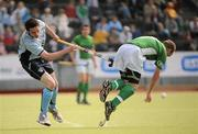 9 May 2010; Graham Shaw, Glenanne, in action against Frank Ryan, Monkstown. Irish Senior Men's Cup Final, Monkstown v Glenanne, National Hockey Stadium, UCD, Belfield, Dublin. Picture credit: Brian Lawless / SPORTSFILE