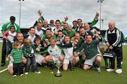 9 May 2010; The Glenanne team celebrate with the cup. Irish Senior Men's Cup Final, Monkstown v Glenanne, National Hockey Stadium, UCD, Belfield, Dublin. Picture credit: Brian Lawless / SPORTSFILE