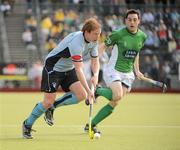 9 May 2010; Gareth Watkins, Monkstown, in action against Richard Shaw, Glenanne. Irish Senior Men's Cup Final, Monkstown v Glenanne, National Hockey Stadium, UCD, Belfield, Dublin. Picture credit: Brian Lawless / SPORTSFILE