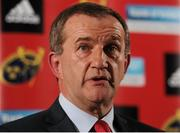 25 April 2016; Munster rugby CEO Garrett Fitzgerald during a press conference. Castletroy Park Hotel, Limerick. Picture credit: Seb Daly / SPORTSFILE