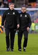 25 April 2016; Pat Fenlon, Shamrock Rovers manager and assistant Glenn Cronin. SSE Airtricity League, Premier Division, Cork City v Shamrock Rovers. Turners Cross, Cork. Picture credit: David Maher / SPORTSFILE