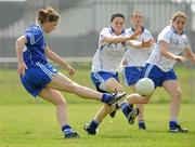 22 May 2010; Niamh Keane, Munster, in action against Ger Conneally, Connacht. Ladies Football Interprovincial Championships, Munster v Connacht, Kinnegad GAA Club, Co. Westmeath. Picture credit: Ray Lohan / SPORTSFILE