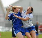 22 May 2010; Anne Marie Walsh, Munster, in action against Emer Flaherty, Connacht. Ladies Football Interprovincial Championships, Munster v Connacht, Kinnegad GAA Club, Co. Westmeath. Picture credit: Ray Lohan / SPORTSFILE